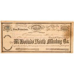 El Dorado North Mining Co. Stock Certificate  #100960