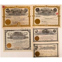 Panaca/Caliente, Nevada Stock Certificate Group  #109154