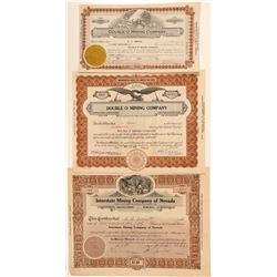 Black Rock and Pershing Mining Stock Certificates  #101622
