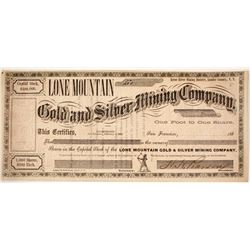 Lone Mountain Gold & Silver Mining Company Stock  #80358