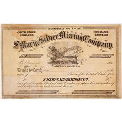 St. Mary's Silver Mining Company Stock  #80359