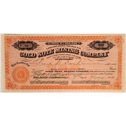Extra Rare / Extra Nice Seven Troughs, Nevada Stock Certificate  #105984