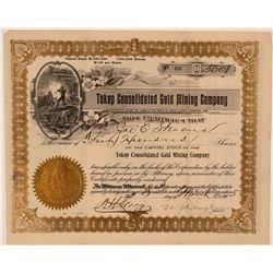 Tokop Consolidated Gold Mining Co. Stock Certificate  #107676