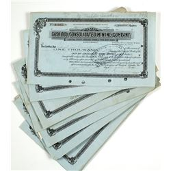 Cash Boy Consolidated Mining Company Stock Certs.  #63960