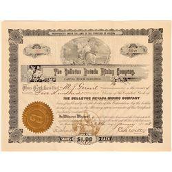 Bellevue Nevada Mining Company Stock  #105949