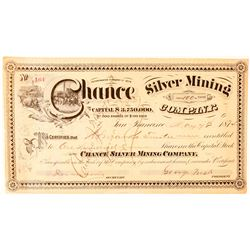 Chance Silver Mining Company Stock Certificate  #91585