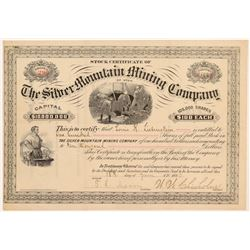 Silver Mountain Mining Co. of Utah Stock Certificate  #107211