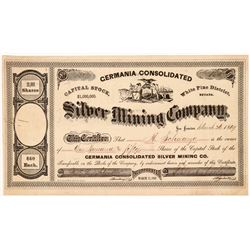 Germania Cons. Silver Mining Co. Stock Certificate  #107010