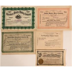 Wonder, Nevada Stock Certificates- Group 1  #110076