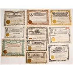 Nevada Mostly Mining Certificates (10 count)  #61715