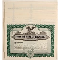 Union Lead Mining and Smelting Stock  #80650