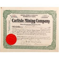 Carlisle Mining Company stock certificate  #82344