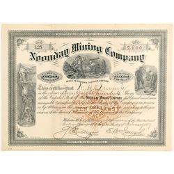 Noonday Mining Company Stock  #91974