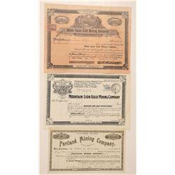 Three Oregon Mining Stocks: Portland, White Swan and Mountain Lion  #91966