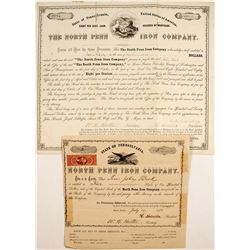 North Penn Iron Company: Stock Number 2! and Bond  #83964
