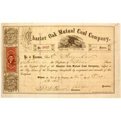 Charter Oak Mutual Coal Company Stock  #81937