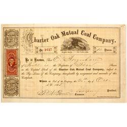 Charter Oak Mutual Coal Company Stock  #81937