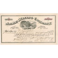 Albe Mining Company Stock Certificate  #104015
