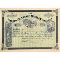Empire Carbonate Mining Company Stock Certificate  #100808