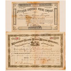 Milwaukee & Black Hills Mining Company Stock Certificate  #100775