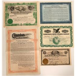 Five South Dakota Stock Certificates  #109081
