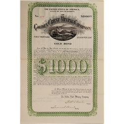 Golden Crest Mining Bond  #106218