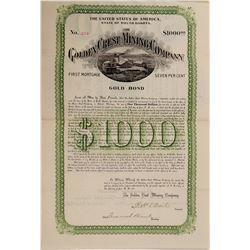 Golden Crest Mining Bond  #106218