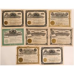 Eight Stocks from American Fork Mining District, Includes a #1  #110116