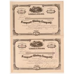 Sampson Mining Company Stock Certificates  #107204