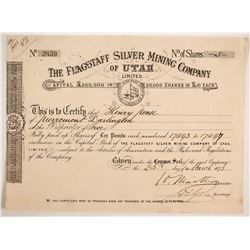 Flagstaff Silver Mining Company of Utah, Limited Stock  #88042