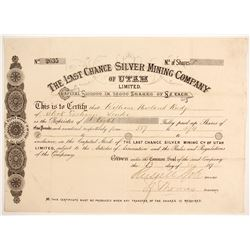 Last Chance Silver Mining Company of Utah Limited' Stock  #88041