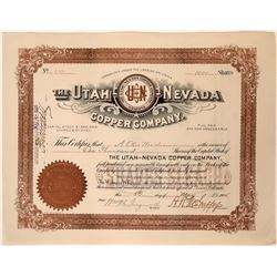 Utah- Nevada Copper Co.Stock, Key Springs District, Emery County- Nice!  #110131
