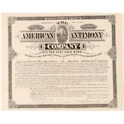 American Antimony Company Bond  #100862