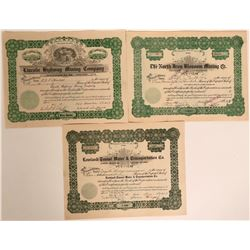 Juab County Stock Certificates- Group 4  #110125