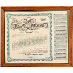 Daly-Judge Mining Company Gold Bond  #109456
