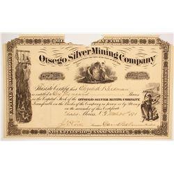 Otsego Silver Mining Company Stock  #86747