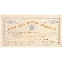 Lion Hill Mining Company Stock Certificate  #100797