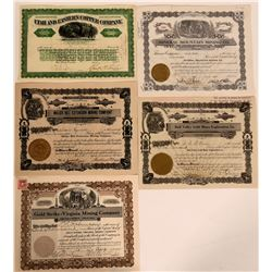 Five Different Stocks from Washington County, Utah  #110117