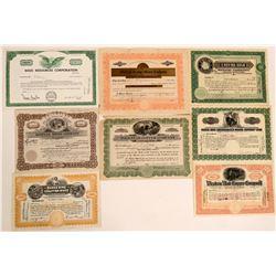 Eight Various Utah Mining Stocks  #110118