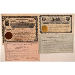 Four Different Ferry County, Washington Mining Stock Certificates  #107636
