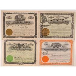 Four Different Okanogan County, Washington Mining Stocks  #107635