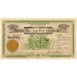 Chespa-Blue Jay Gold Mining Co. Stock Certificate  #107099