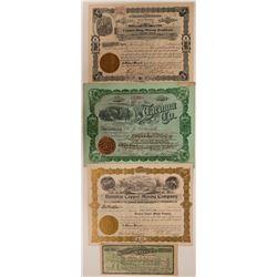 Four Different Tacoma, Washington Mining Stock Certificates  #107651