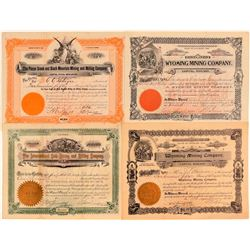 Miscellaneous Western Mining Stock Group: New Mexico & Wyoming  #107682