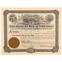 Yukon Stock Fraud: British American Gold Mining and Trading Company  #91684