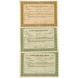 Calumet-Corbin Mines Company Stock Certificates  #104287