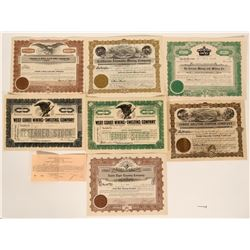 Mexican Mining Stock Certificate Group  #109047