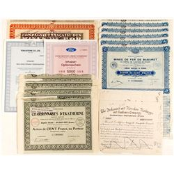 A Variety of Foreign Mine Stocks & Bonds  #81808