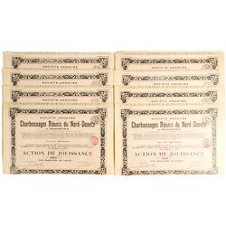Charbonnages Reunis du Nord - Donetz Bond Certificates  #81074