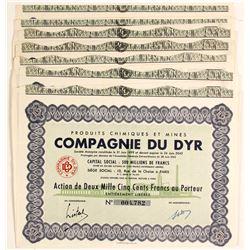 Compagnie Du Dyr Mining Bond Certificates  #81805